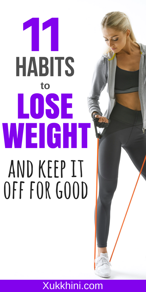 11 habits to lose weight pin it!