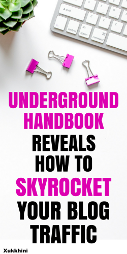 Underground handbook reveals how to skyrocket your blog traffic!