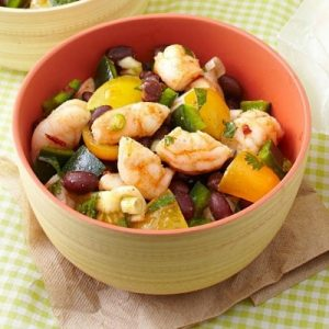 Make Ahead Zesty Shrimp And Black Bean Salad-min