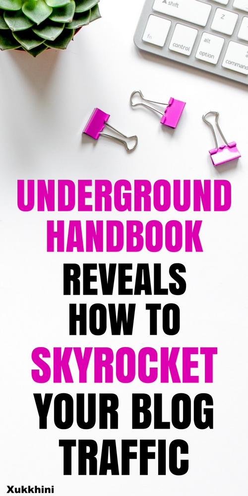 Underground handbook reveals how to skyrocket your blog traffic